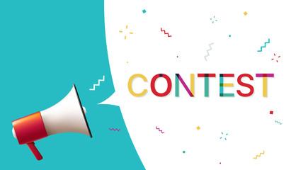 "Megaphone with ""Contest"" Speech Bubble"