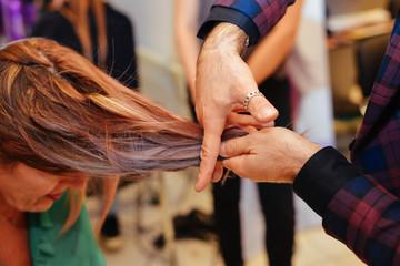 Fototapeta cut color hair