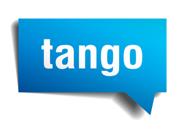 tango blue 3d speech bubble