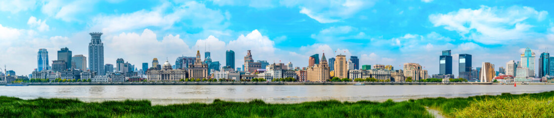 Panorama of architectural scenery in the Bund, Shanghai..