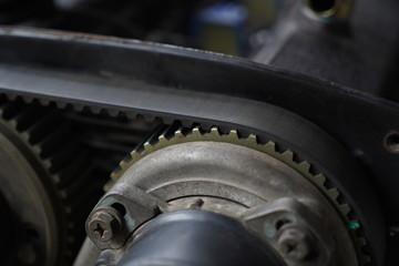 Racing car's engine detail