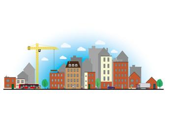 Paysage urbain travaux