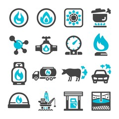 natural gas icon set,vector and illustration