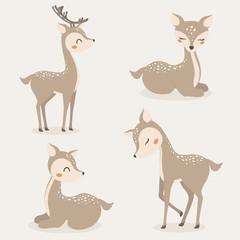 Set of Cute Deers.