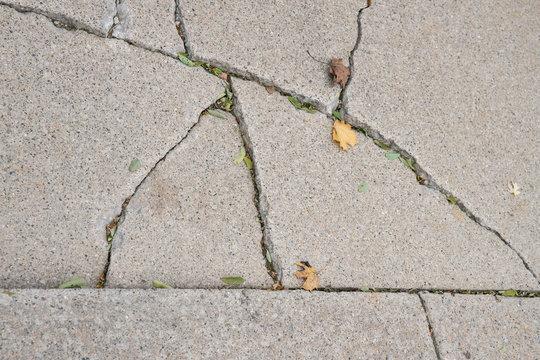 concrete is broken and needs repair