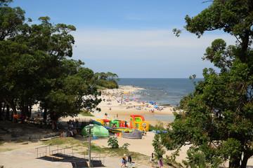 Atlantida beach landscape in Canelones, Uruguay