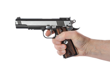 Hand with pistol