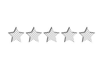Sterne Bewertung - transparente Sterne