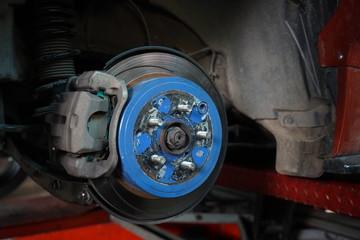 Car's disk brake detail