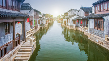 Scenery of the ancient town of Wuxi, Jiangsu Province, China