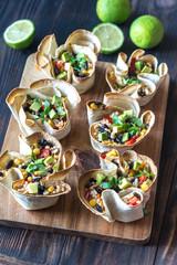 Tortilla burrito bowls