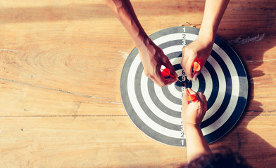 Meaningful target of business. Dart is an opportunity and Dartboard is the target and goal....