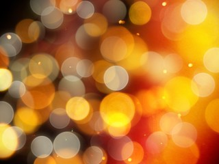 golden glowing warm background with glittering highlights and soft yellow and silver blurred round lights