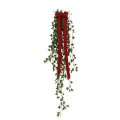 Door decroation with red ribbon