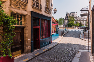 Old street in Paris, France
