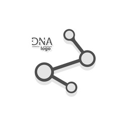 DNA design over white background,vector illustration.