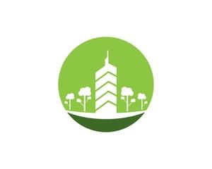 Modern city logo template vector