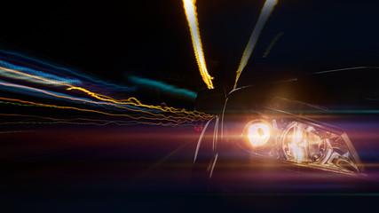 Car speed light