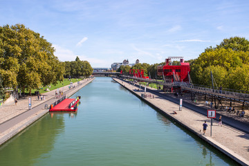 PARIS, FRANCE, SEPTEMBER 9, 2018 - The City of Science and Industry in the Villette Park (Parc de la Villette) in Paris, France.