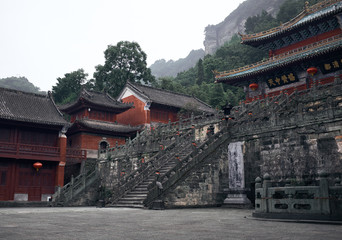 Ancient kungfu Temple in Wudangshan mountain China
