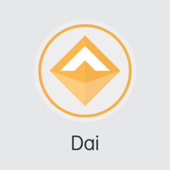 Dai Crypto Currency. Vector DAI Graphic Symbol. Vector Icon