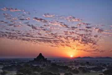 sunrise in Bagan Archaeological Zone, Mandalay Region, Myanmar