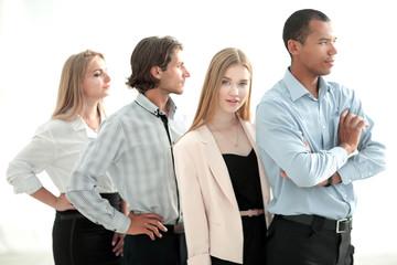 closeup.the positive portrait of multiethnic business team