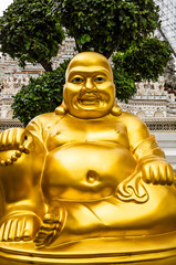 Smiling Golden Buddha Statue.