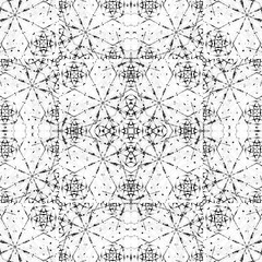 Bright Fractal Ornate Geometric Seamless Mosaic
