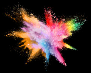 Abstract powder splatted background.