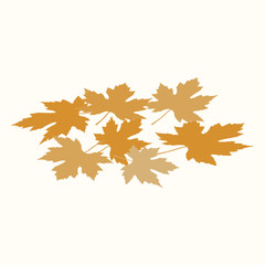 Maple leaves. Autumn. Vector illustration. EPS 10.
