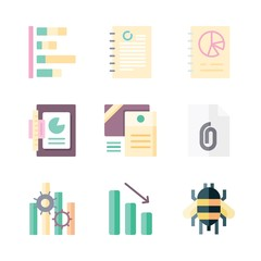 busy icon set. vector set about bee, graphics, documents and graphic icons set.