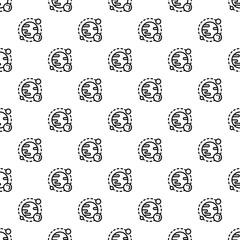 Space planet pattern seamless repeat background for any web design