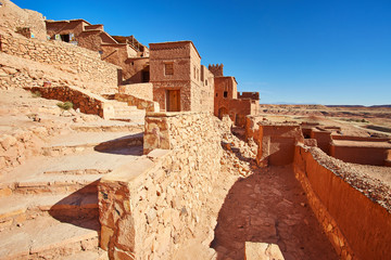 Ait Ben Haddou or Ait Benhaddou is a fortified city near ouarzazate in Morocco.