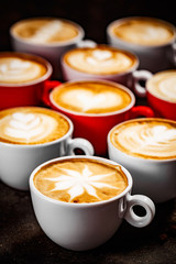 Latte art in different shapes