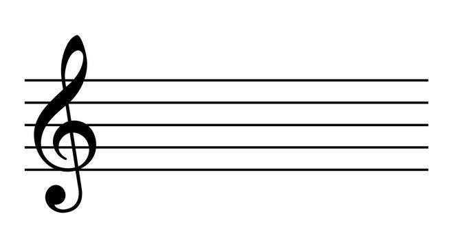 Empty music staff icon