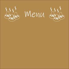 Menu for Georgian restaurant