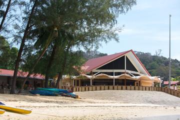 house on a tropical beach