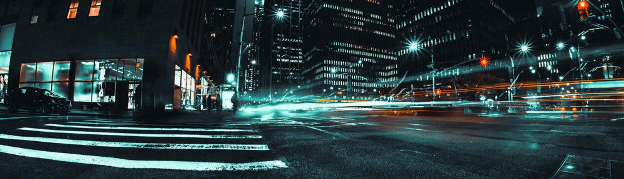 avenue la nuit à new york