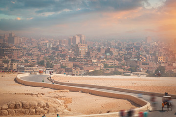 view of buildings in the city of Cairo. Papier Peint