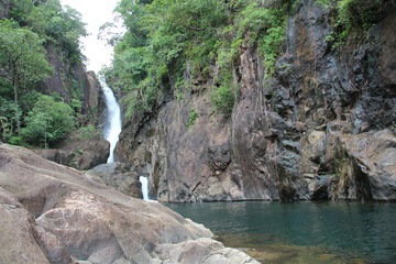 Watterfall in the island of Co Chang, Thailand