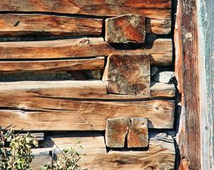 Wooden house corner detail