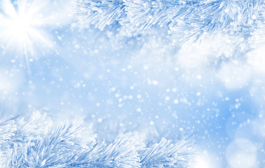 Winter festive background for greeting cards and design..Christmas bright background.