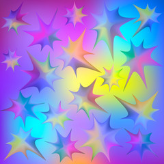 Abstract colored background with stars.