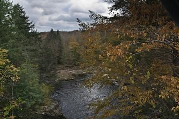 Wangaum Falls, Pennsylvania Pocono Mountains in Autumn