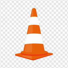 Traffic cone. Vector illustration.