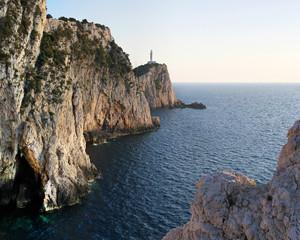 Lighthouse on the rocky mountain
