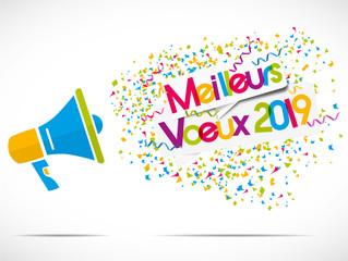 mégaphone : meilleurs voeux 2019