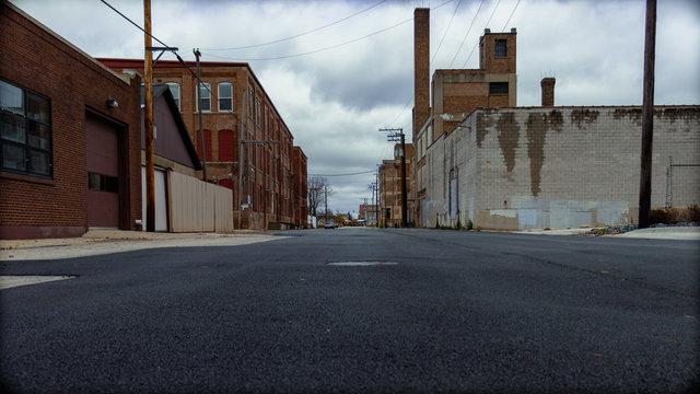 Gloomy Old Town Middle Ave Aurora Illinois