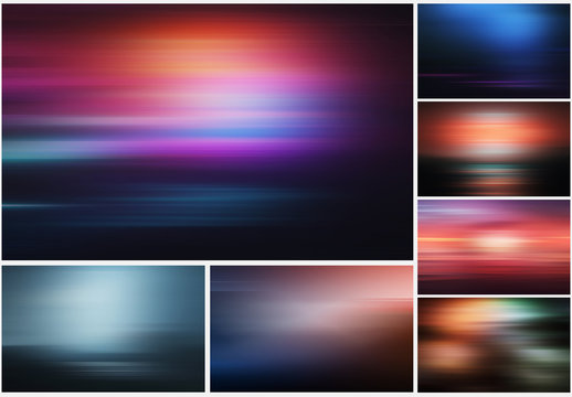 Abstract Light Effect Background Layouts